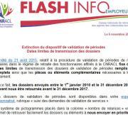 Flash Info : Extinction du dispositif de validation de périodes