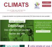 Climats, la lettre des retraités janvier 2018
