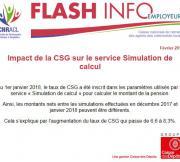 Flash Info - Impact CSG sur service Simulation de calcul